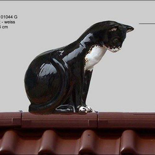 Dachschmuck-Katze-sitzend